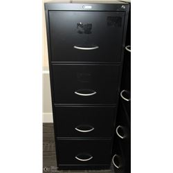 BLACK 4 DRAWER FILE CABINET 18X26X52