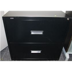 2 DRAWER BLACK LATERAL FILE CABINET 30X18.5X28