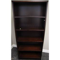 5 TIER DARK BROWN SHELF UNIT 34X14X71