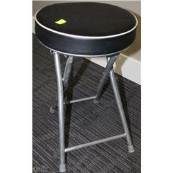 BLACK & METAL FOLDING STOOL