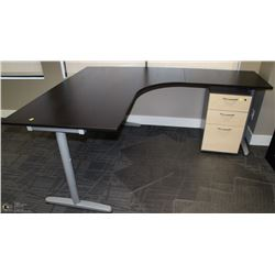 BLACK & GREY LEFT ANGLE L-SHAPE DESK 63X79
