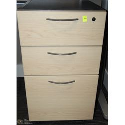 PINE & GREY 3 DRAWER ROLLING CABINET 16X18X26.5