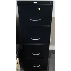 4 DRAWER BLACK FILE CABINET 18X27X53