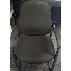 BLACK HIGH BACK OFFICE ARM CHAIR