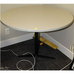 ROUND GREY OFFICE TABLE 36X30
