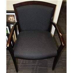 DARK  CHOCOLATE BLACK OFFICE CHAIR WITH FABRIC