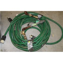 HEAVY GAUGE HOSE WITH 220 CONNECTIONS AND AIR HOSE