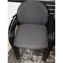 LOT OF 4 BLACK OFFICE CHAIRS