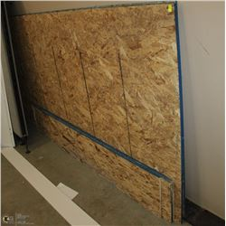 LOT OF PLYWOOD INCLUDES 3 SHEETS OF 4X8 AND SOME