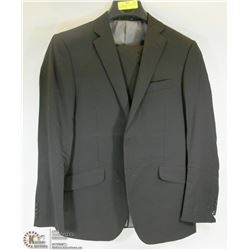 2PC BELLISSIMO BLACK SUIT SIZE 40R JACKET 34R