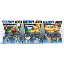 LOT OF 3 DIFFERENT NEW LEGO DIMENSIONS