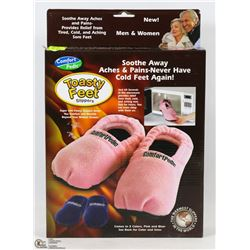 NEW WOMENS TOASTY FEET SLIPPERS SIZE 5-8