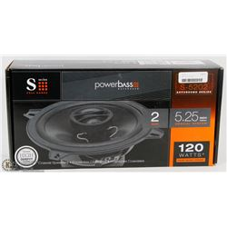 "POWERBASS S SERIES 120W 5.25"" 2 WAY SPEAKERS"