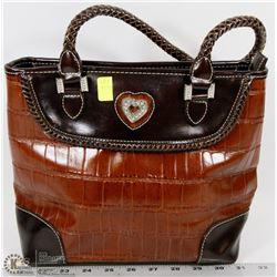 BROWN WOMENS HANDBAG
