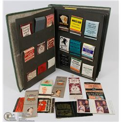 VINTAGE MATCH BOOK COLLECTION IN