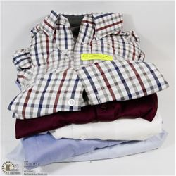 LOT OF 5 ASSORTED SIZE DRESS SHIRTS