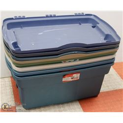 LOT OF 4 RUBBERMAID ROUGHNECK