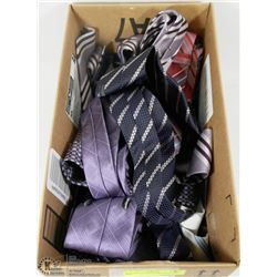 BOX OF ASSORTED BRAND NAME TIES