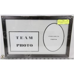 LOT OF 3 INDIVIDUAL AND TEAM PHOTO FRAMES