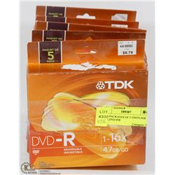 #21) 6 PACKAGES OF 5 UNITS PER PACK DVD RW