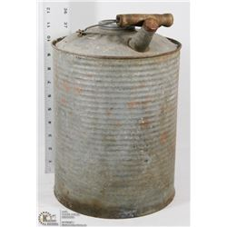VINTAGE GALVANIZED PAIL WITH SPOUT