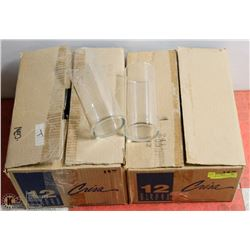 "2 BOXES OF 8 1/2"" CYLINDER VASES"