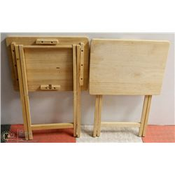 PAIR OF WOOD TV TABLES