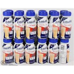 LOT OF 24 VANILLA  ENSURE + CALORIES MEAL