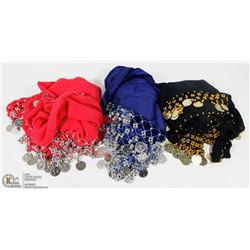 LOT OF 3 NEW BELLY DANCING WRAPS/DRESSES
