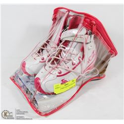 PAIR OF NEW CCM ICE SKATES PINK SIZE 1.