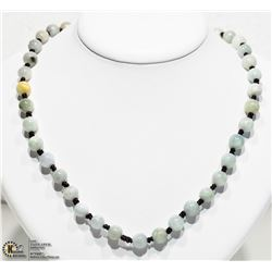 7) JADE KNOTTED BEAD NECKLACE
