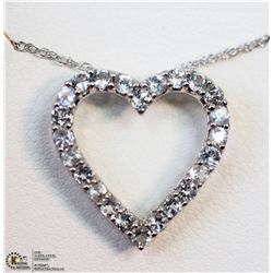 8) STERLING SILVER WHITE TOPAZ NECKLACE
