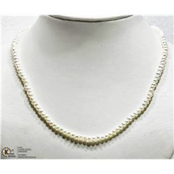 15) STERLING SILVER FRESHWATER PEARL NECKLACE