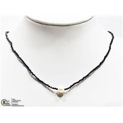 32) SPINEL AND PEARL NECKLACE