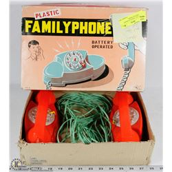 NOSTALGIC 1950S PLAY PHONE WITH NEW BATTERIES,
