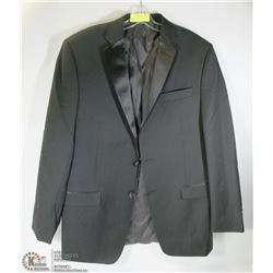 CALVIN KLEIN BLACK SUIT JACKET SIZE 42R  100% WOOL