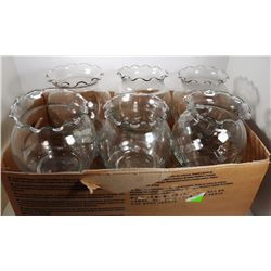 #1 - LOT OF 12 CLEAR GLASS  BUD VASES