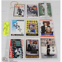 2 SHEETS OF MOSTLY WAYNE GRETZKY HOCKEY CARDS &
