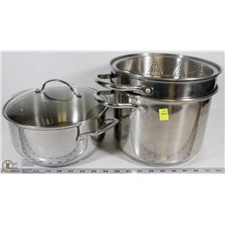 LOT OF STAINLESS STEEL COOKWARE