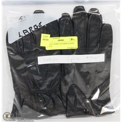 2 PACK LADIES LEATHER GLOVES LARGE