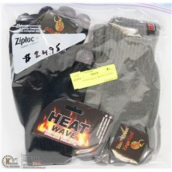 2 PACK MENS HEAT WAVE GLOVES