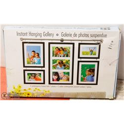 INSTANT HANGING GALLERY . HOLDS 7 PICS
