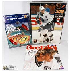 GRETZKY PUZZLE, FRISBEE AND CALENDAR
