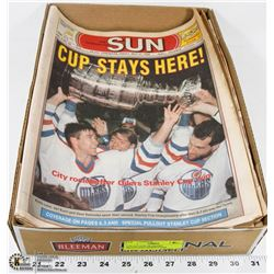 COLLECTION OF OILERS MILESTONES NEWSPAPERS