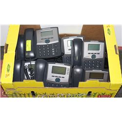 CISCO VOIP PHONES WITH STANDS & ADAPTERS