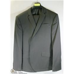 2PC BELLISSIMO BLACK PINSTRIPE SUIT 46T JACKET 40L
