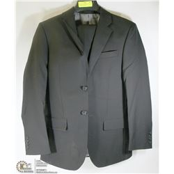 2PC BELLISSIMO BLACK PINSTRIPE SUIT 36R JACKET 30R