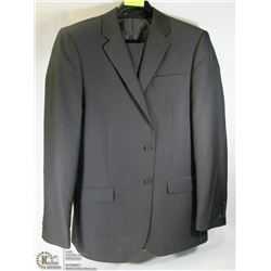 2PC BELLISSIMO BLACK/NAVY TWEED SUIT SIZE 42T