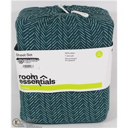ROOM ESSENTIALS JERSEY SHEET SET (XL TWIN)
