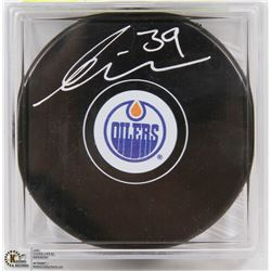 EDMONTON OILERS ANDERS NILSSON SIGNED PUCK W/ COA